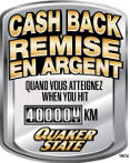 Cash back when you hit 400,000 km